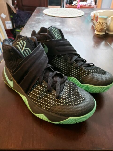 7fe2c0c37e9 Nike Kyrie 2 Black Green Glow 819583-007 Basketball Shoes DS USA Men's Size  7.5