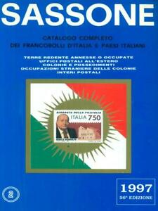 SASSONE-CATALOGO-COMPLETO-DEI-FRANCOBOLLI-D-039-ITALIA-E-PAESI-ITALIANI-VOL-2