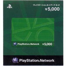 play station network card 5000 Yen japan japanese PSN PSP PSV PS4 VITA PS3 jp