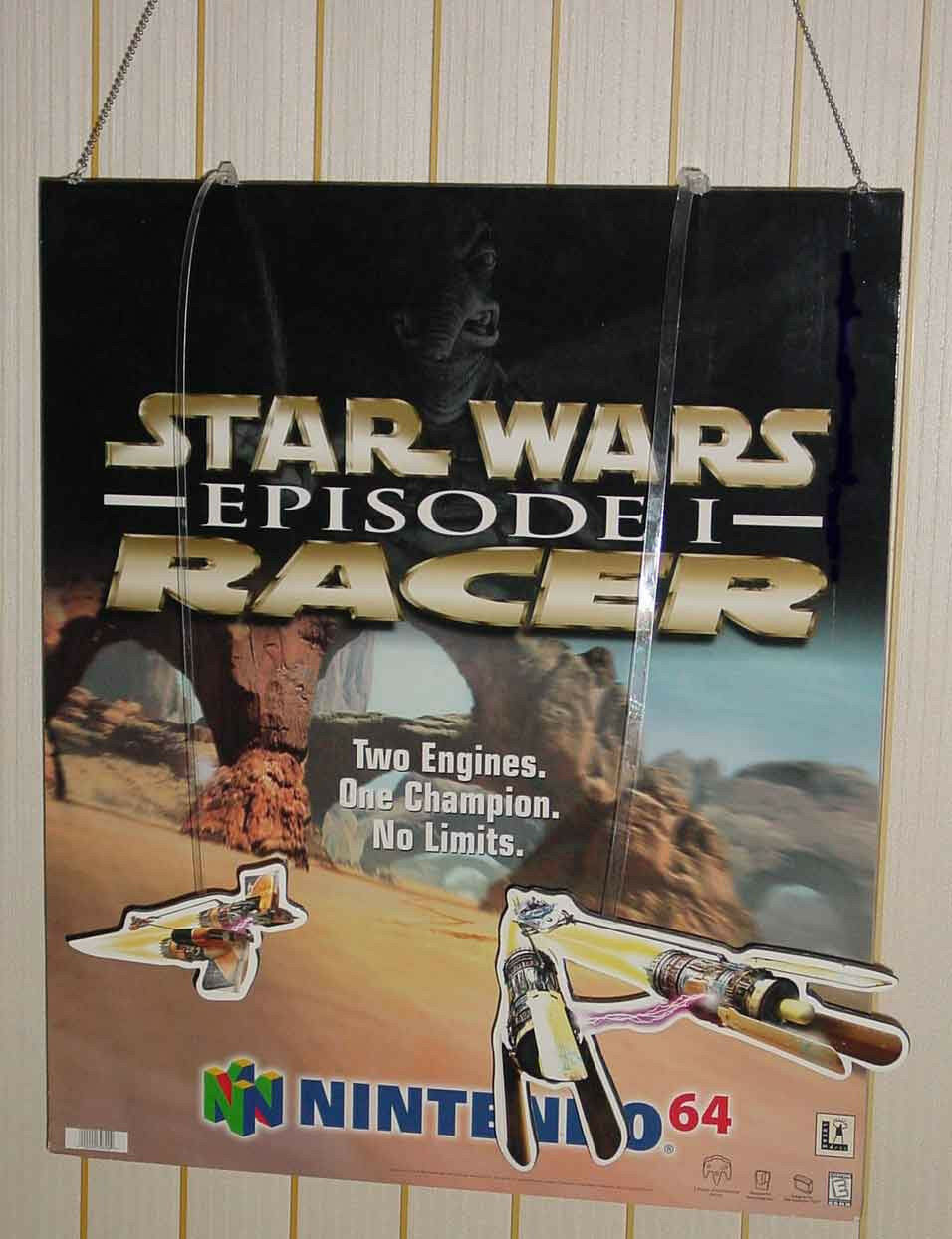 STAR WARS EPISODE 1 RACER GAME STORE PROMO CIELING HANG