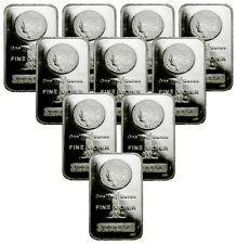 Lot of 10 - Morgan Dollar Design 1 Oz .999 Silver Bars SKU29388
