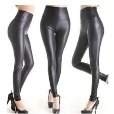 Women Fashion Sexy High Waist PU Leather Legings for Sping Summer Winter