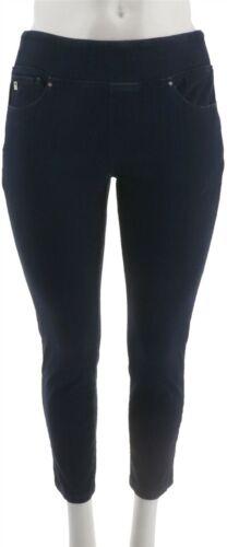 Belle Kim Gravel Flexibelle Jeggings Pockets-Petite Dark Indigo 10P NEW A300368