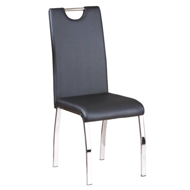 Küchenstuhl Set 2-teilig Esszimmerstuhl Esszimmer Stuhl Metallstuhl schwarz