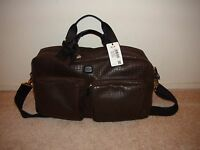 Brics My Safari Holdall Brown Croc Embossed Duffle Travel Carry On Bag $460