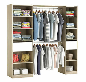 riesiger kleiderschrank 5077 begehbar offen garderobe schrank regal schublade ebay. Black Bedroom Furniture Sets. Home Design Ideas