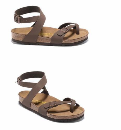 Details about BIRKENSTOCK Yara Women's Sandals Colour: Brown white Birko Flor Regular