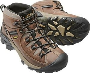 0ef4ac0468d Details about KEEN Mens Targhee II Mid WP Hiking Boots  Shitake Brindle-1008418 Choose size NIB