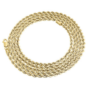 Real 10K Yellow Gold Solid Flat Mariner Chain 2.50mm Necklace Plain 16-24 Inches