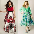 Women Sexy Summer Chiffon Dress Maxi Long Evening Party Beach Dress Plus Size