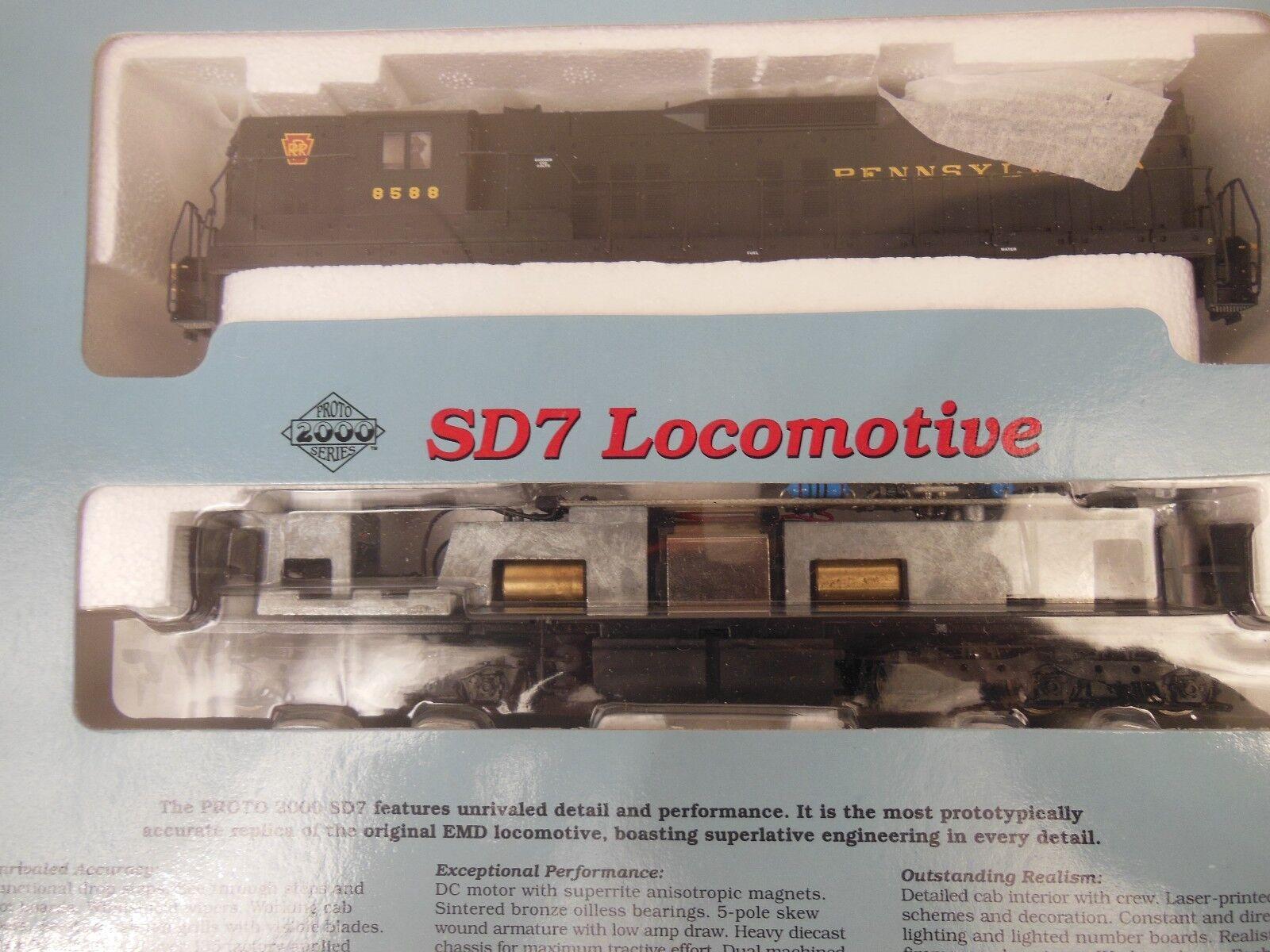 Ho Projoo 2000 Pennsylvania 8588 SD7 con locomotora de freno dinámico Nuevo