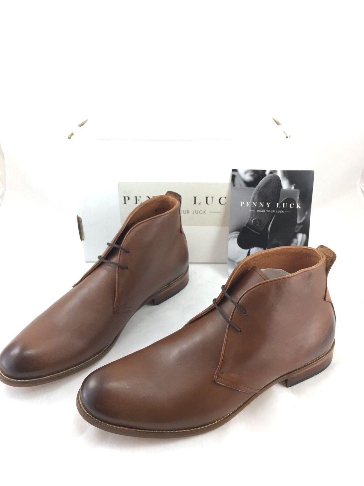PENNY LUCK Shoe Co. Uomo Pelle Chukka Boot Chocolate Size 13