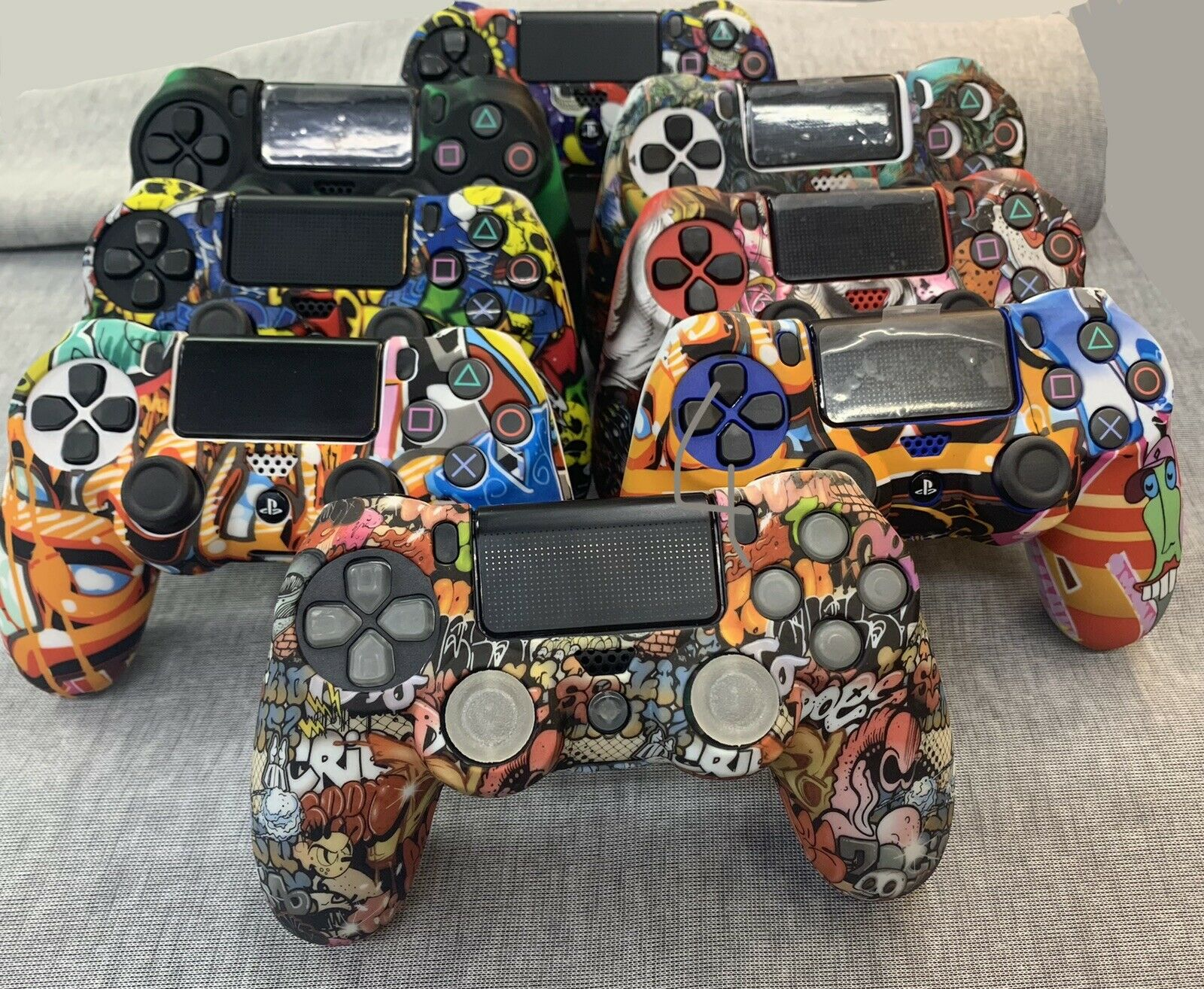 •PS4 Controller Rubber Skins • Unique Unisex Designs • Good Grip • Cheap• New•