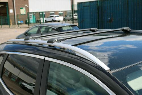 FIAT PANDA onwards 2014 LOCKABLE ALUMINIUM CROSS BARS RACK 75 KG LOADING BLACK