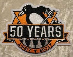 Fanartikel NHL Patch Aufnäher Anniversary Patch Pittsburgh Penguins 50 Years