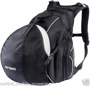 Cortech Super 2.0 Black Motorcycle Backpack With Helmet Holder