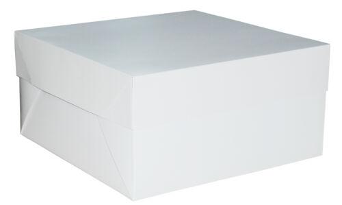 "White Cake Box 14/"" x 14/"" x 6/"" Inch Wedding Birthday"