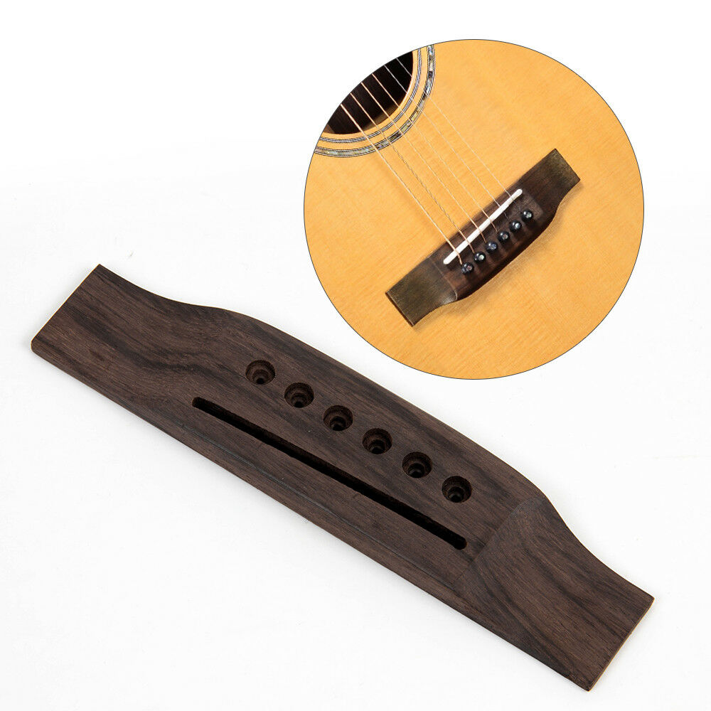 acoustic guitar bridge for 6 string acoustic guitar replacement parts 600685806937 ebay. Black Bedroom Furniture Sets. Home Design Ideas