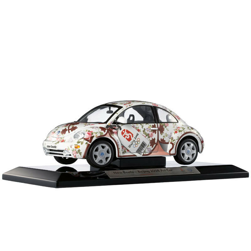 ORIGINAL MODEL 1 18 Volkswagen NEW BEETLE,2008 Beijing Olympic ART CAR,cheongsam