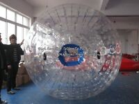 2.0m1.5m Inflatable Zorb Ball Zorbing Human Hamster Ball 1300w Blowers X1