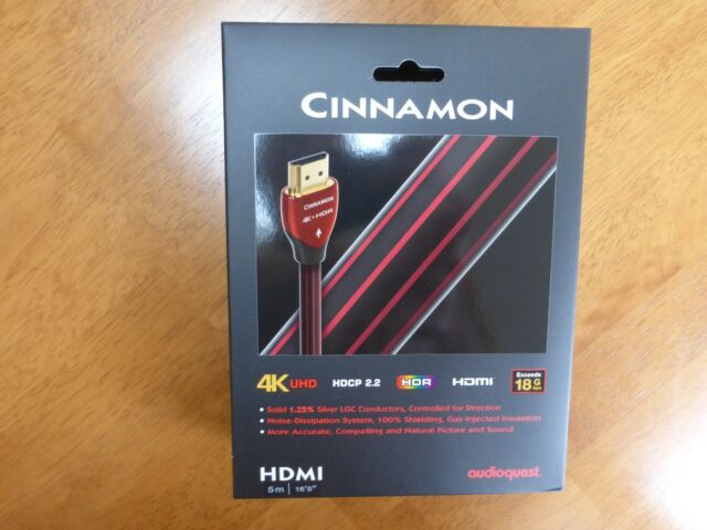 2m 3D and 4K Ultra HD AudioQuest Chocolate HDMI Video Cable with Ethernet