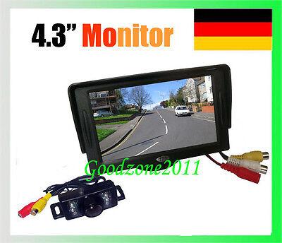 "7 IR LED Nachtsicht Rückfahrkamera Kamera+ 4,3"" Auto Monitor Rückansicht Kit A7"