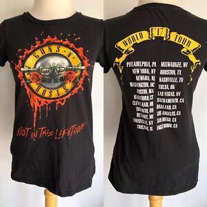 Guns N Roses 2017 Not In This Lifetime Concert T Shirt Rock Pop Music Memorabilia