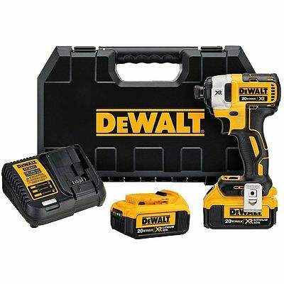 DEWALT 20V MAX XR 4.0 Ah 1/4 in. 3-Speed Impact Driver Kit