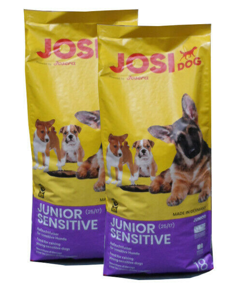 2x18kg josera josidog Junior Sensitive cibo per cani