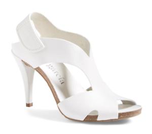 Pedro Garcia Yolanda Women's White Sandal Sz 36.5