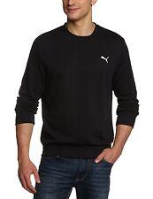 Puma ESS Crew Sweatshirt Terry Pullover Herren schwarz Bio Baumwolle Gr. S NEU