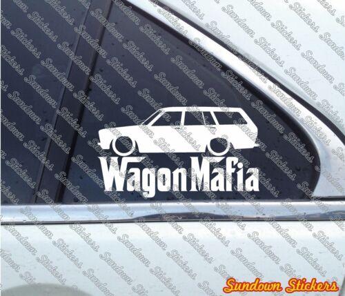 for Datsun Bluebird 510 station classic Lowered WAGON MAFIA sticker