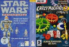 star wars droidworks jewel case & crazy machines complete 2 new&sealed puzzle