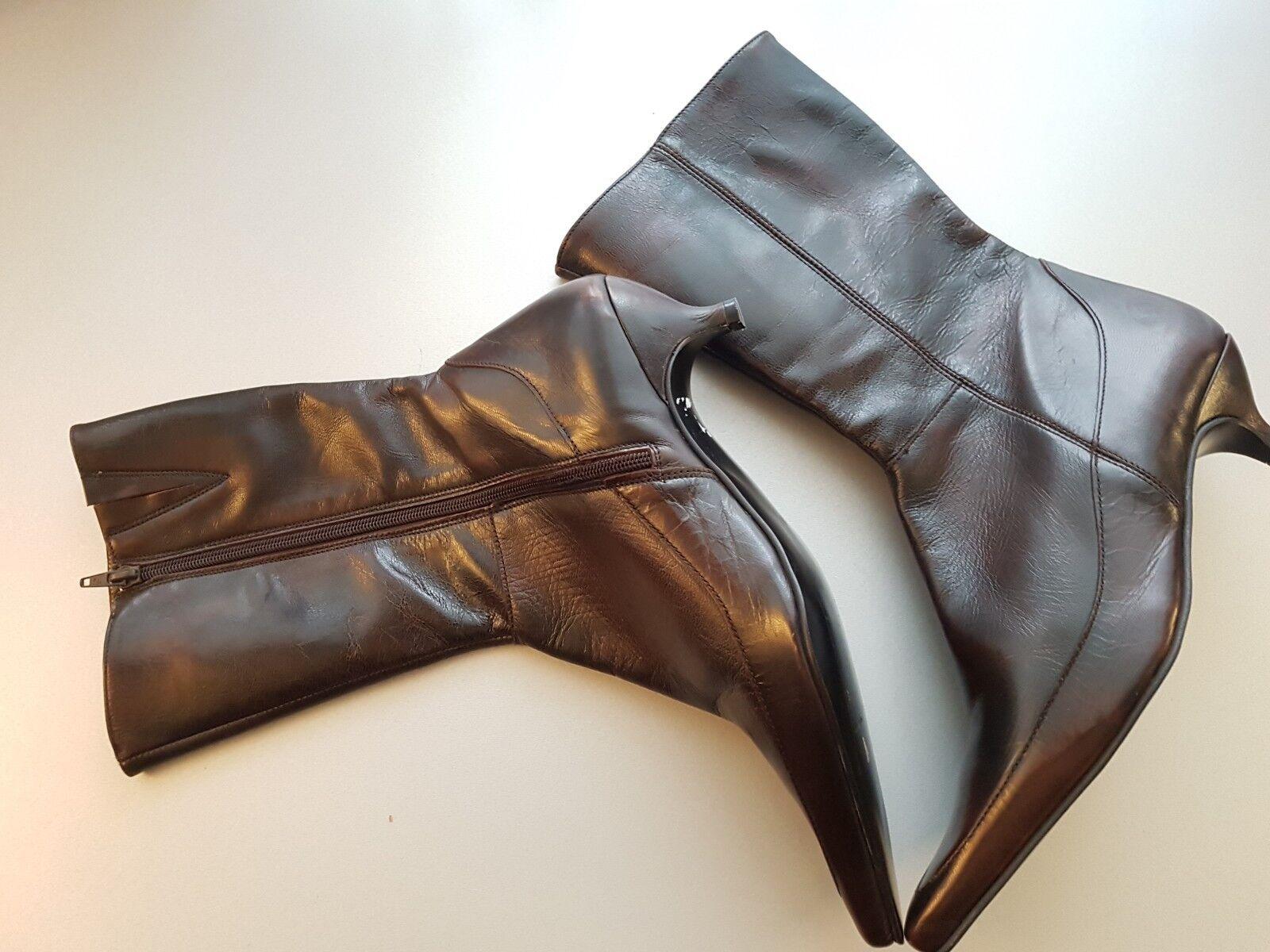 SPM Echtleder Damenstiefel  Boots 40 Stiefeletten braun Gr. 40 Boots c5b8a7