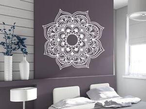 Mandala Wall Decals Namaste Wall Art Flower Decor Bohemian Bedroom C695 Ebay