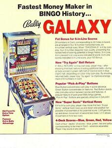 Galaxy-Pinball-FLYER-Bally-Original-1978-NOS-Bingo-Arcade-Game-Artwork-Sheet