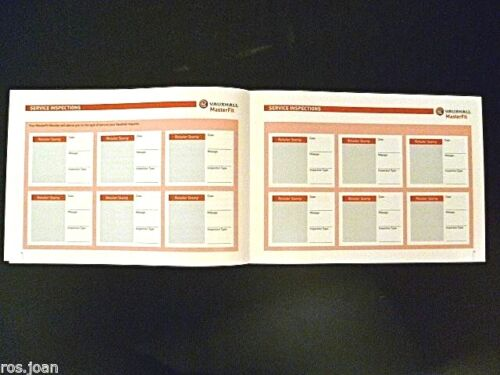 Vauxhall ZAFIRA TOURER Service History Record Book Models Brand New Genuine