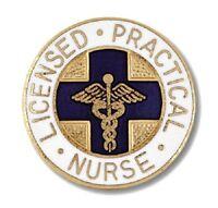 Lpn Lapel Pin Blue Cross Caduceus Emblem Graduation Licensed Practical Nurse
