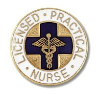 Lpn Lapel Pin Blue Cross Caduceus Emblem Graduation Licensed Practical Nurse