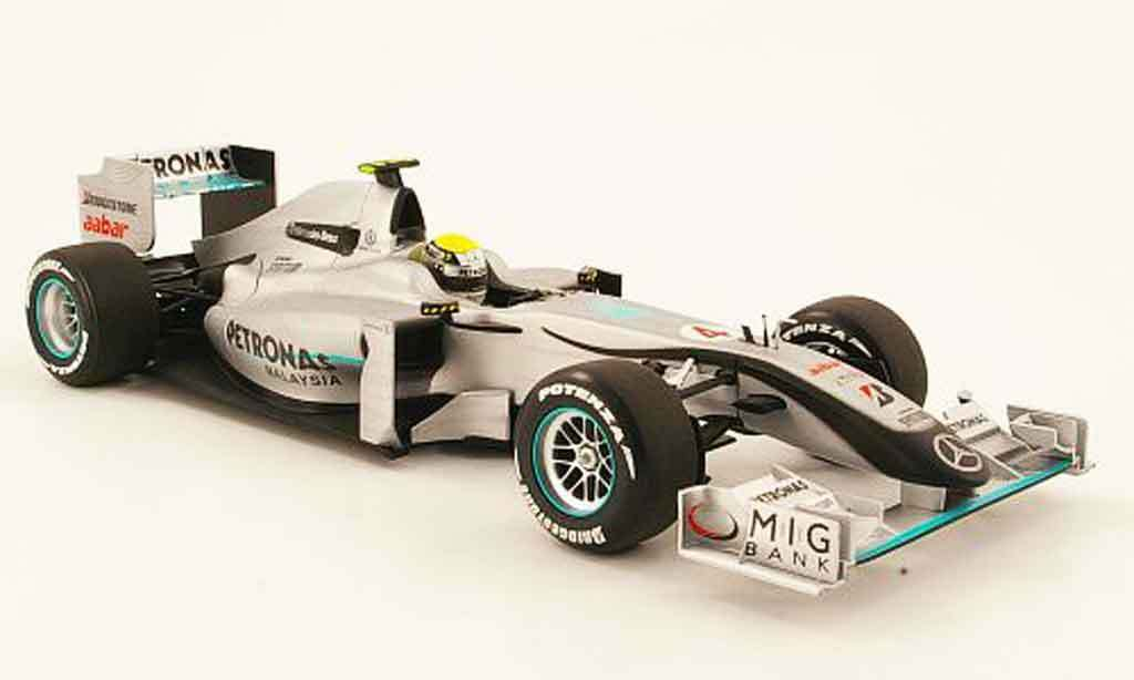 MERCEDES GP F1 TEAM ROSBERG 2010 SHOWCAR W01 MINICHAMPS 110100004 1 18