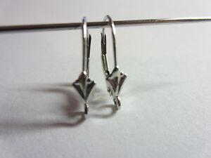 12pcs x Leverback Earrings Fleur-de-lis Sterling Silver 925 11080