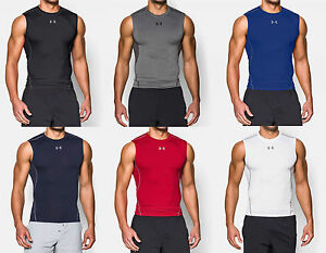 e30ed96a9ae9a Under Armour Men s UA HeatGear Sonic Sleeveless Compression Shirt ...