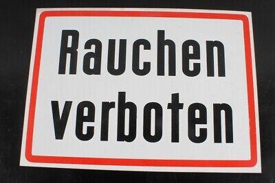 RüCksichtsvoll Hinweisschild Schild Rauchen Verboten Verbotsschild 42cm X 30cm