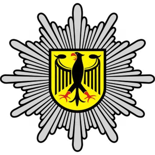 5cm!4xAUFKLEBER-Folie Witterungsfest Bundespolizei Polizei Logos S351 Auto