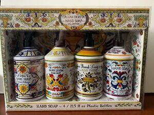 Combo Set 4 Italian Deruta Hand Soap Collection 21 5 Fl