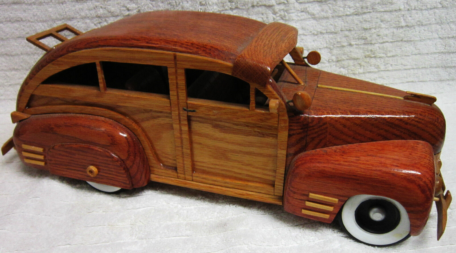 1941 Hand Carved Cadillac Woody Car