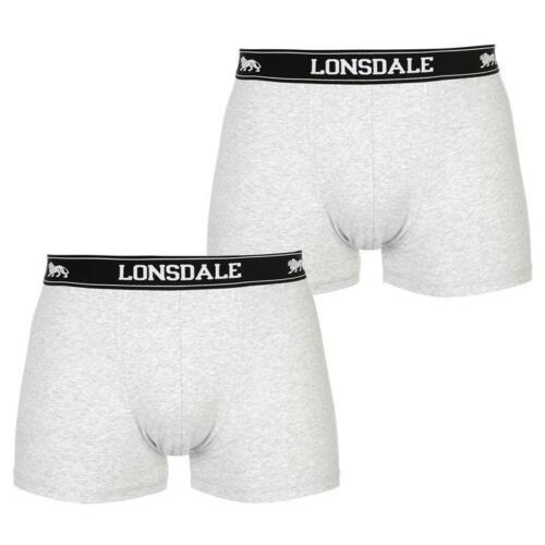 Confezione da 2 Grigio Da Uomo Lonsdale Boxer Trunks Biancheria Intima XS-3XL