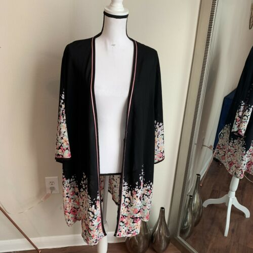 Oscar De La Renta Silk Japanese Style Womens Kimon