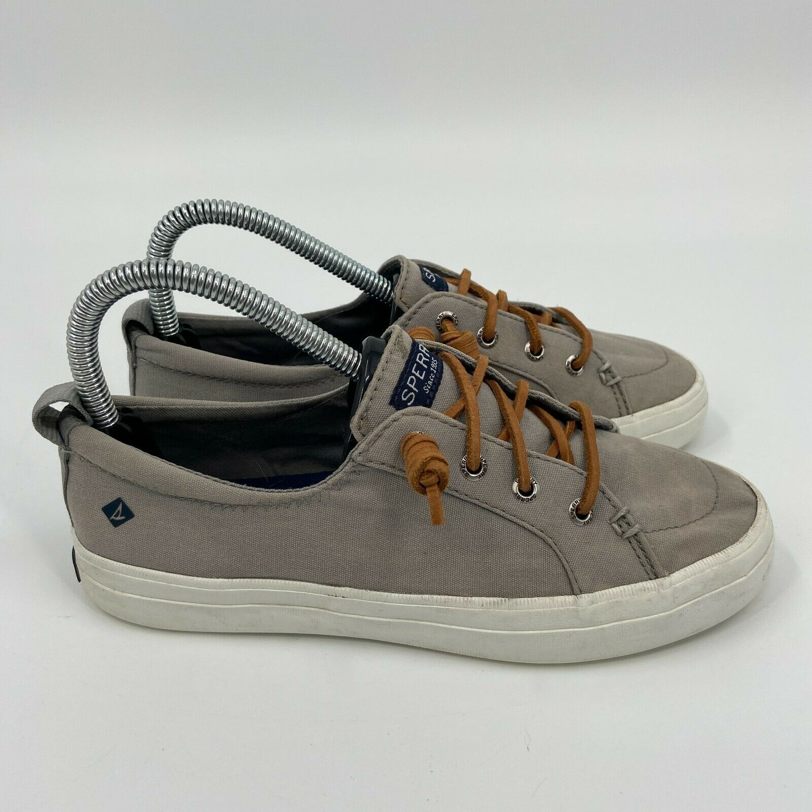 Sperry Womens Top Sider Crest Vibe STS81902 Gray Casual Sneaker Shoes Size 6.5