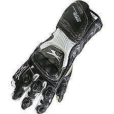 Spada-Elite-kangaroo-Leather-motorcycle-Gloves-Armoured-Sport-Race-Black-White